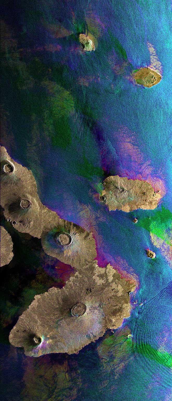islas Galápagos desde el satélite Envisat