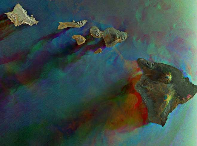 islas Hawai desde el satélite Envisat