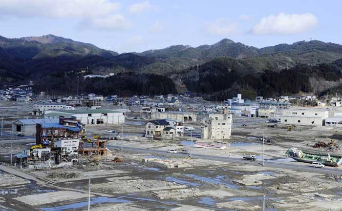 una colina de Kesennuma, ahora