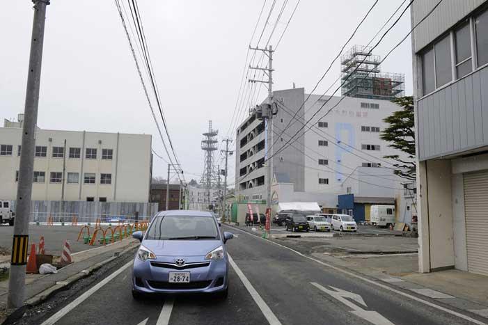 una calle de Ishinomaki ahora