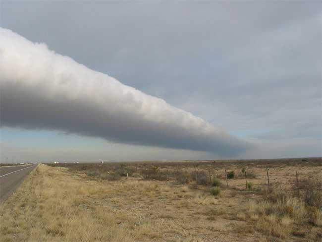 nube tubular en Texas