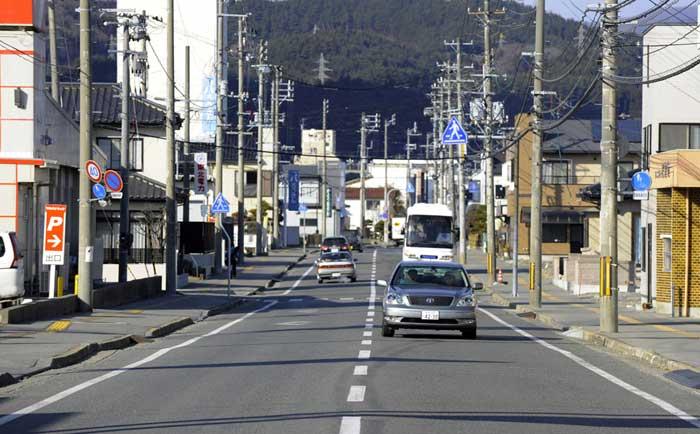una calle de Ofunato, ahora
