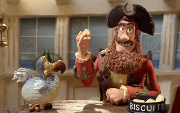 pirata con un pequeño dodo