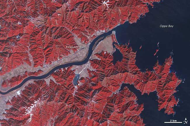 río Kitakami en enero de 2011