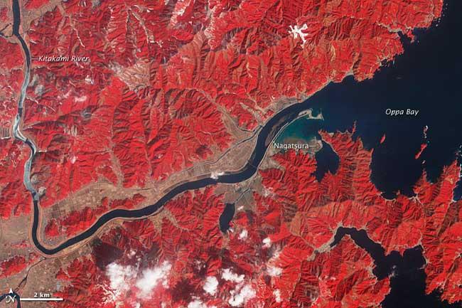 río Kitakami en febrero de 2012