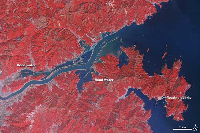 río Kitakami tras el tsunami