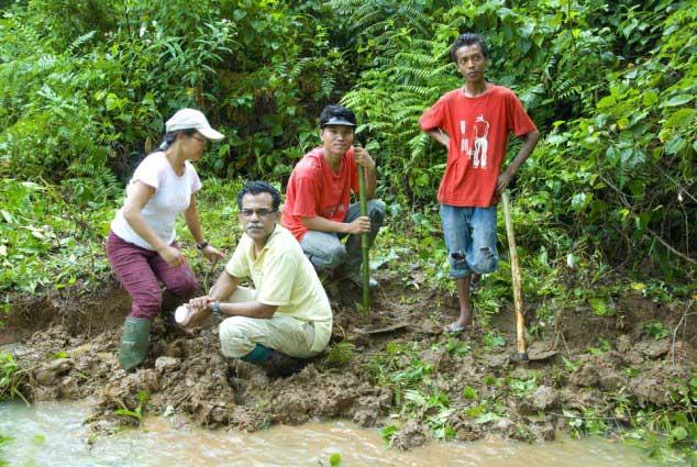 SD Biju y su equipo