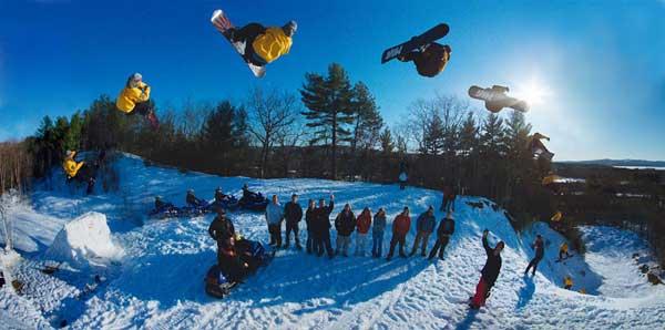 snowboarding acrobático