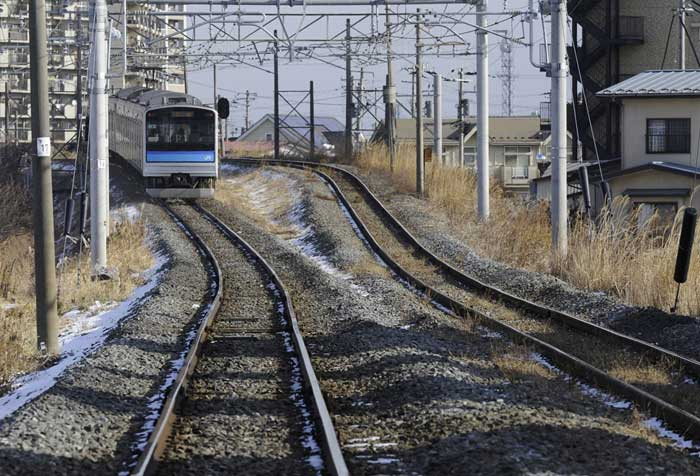 vías de tren en Tagajo, ahora