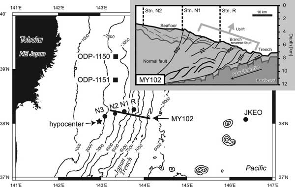 movimiento del subsuelo en el terremoto de Japón de 2011