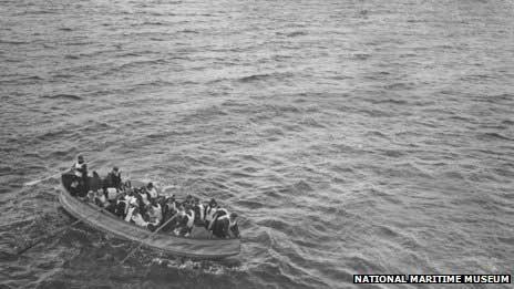 bote salvavidas de Titanic