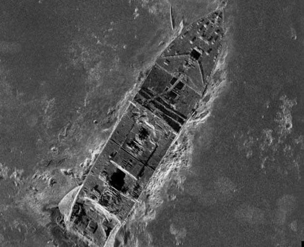 detalle de la proa del Titanic en el nuevo mapa