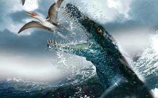 dinosaurio en el agua