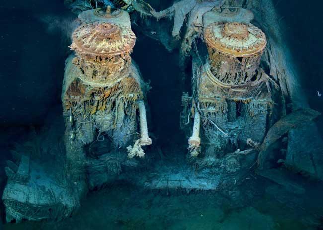 dos de los motores Titanic