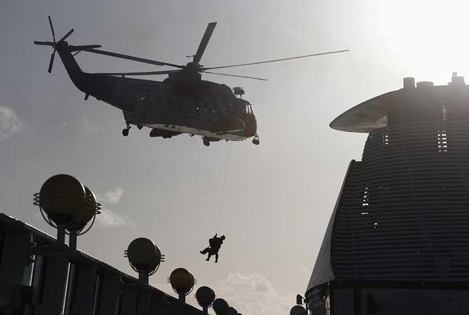 evacuación en helicóptero desde el Balmoral a Tim Rex