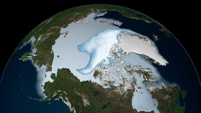 extensión hielo marino del Ártico en 2012