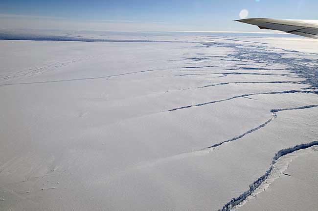 glaciar Pine Island en la Antártida - foto IceBridge