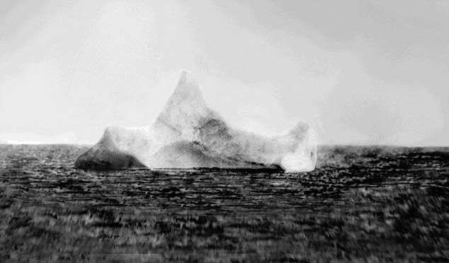 iceberg que hundió el Titanic, foto del buque Prinz Adalbert