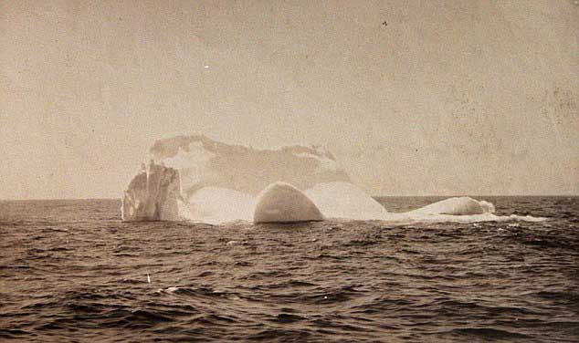 iceberg que hundió al Titanic