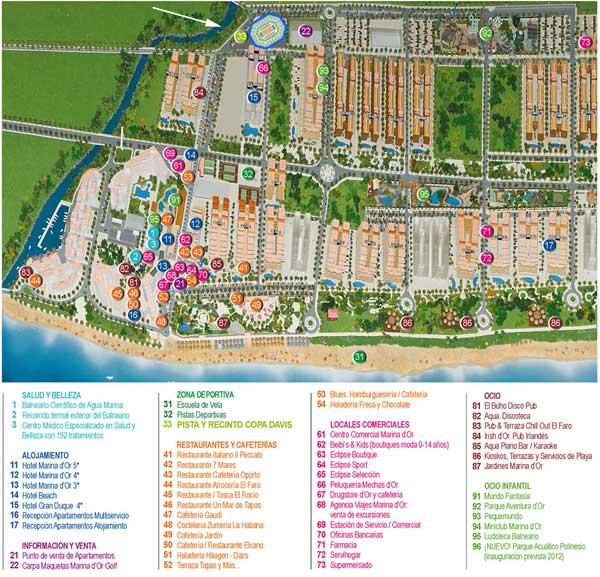 mapa de Marina d´Or