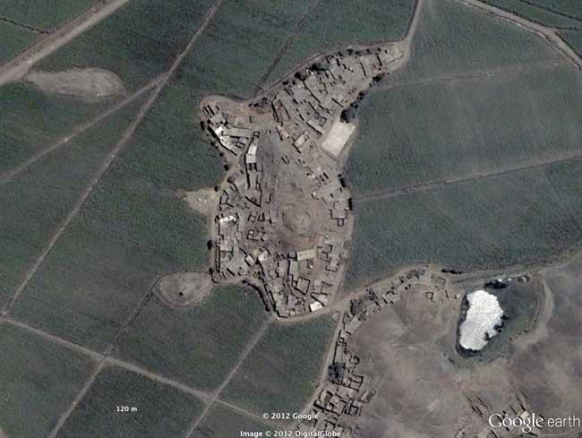 montículo en forma de orca en Perú