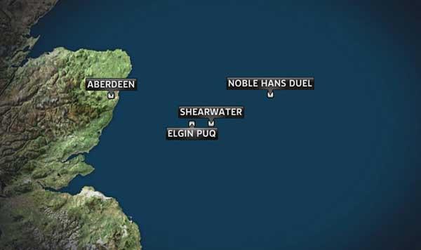 plataformas petroleras en la costa de Escocia