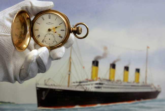 reloj de Carl Asplund, ahogado en el Titanic