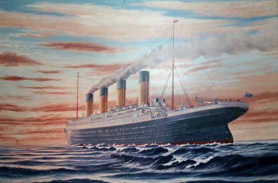 pintura del RMS Titanic