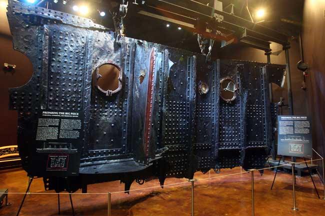 sección recuperada de los restos del Titanic