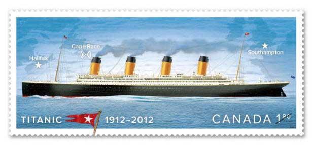 sello 100 aniversario del Titanic de Canadá