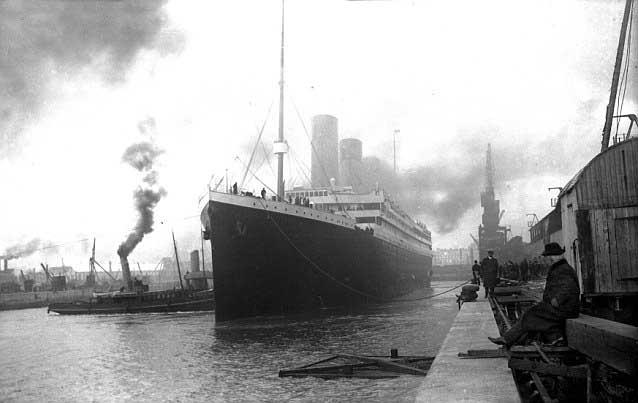 El RMS Titanic en Southampton