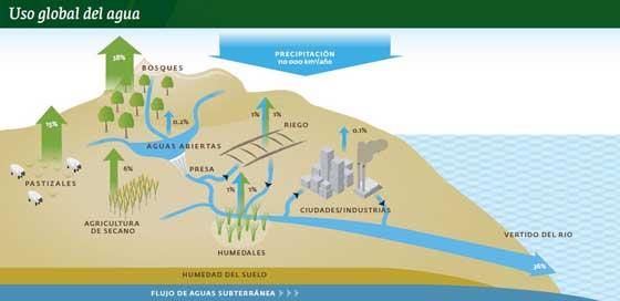 uso global del agua
