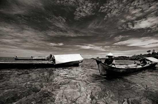 barcos lepa-lepa, tribu Bajau, Malasia