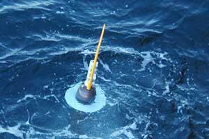boya para medir la temperatura en los océanos