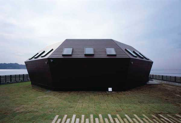 casa concha en la orilla del mar, Chiba, Japón