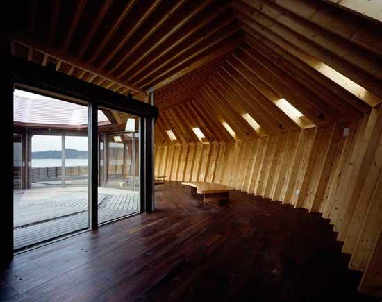 casa concha en la orilla del mar, Chiba, Japón - pasillo