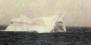 iceberg contra el que posiblemente impactó el Titanic