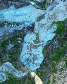 inundaciones Pakistán, verano 2010,  satélite NASA