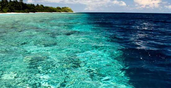 Océano índico, cerca de las Maldivas