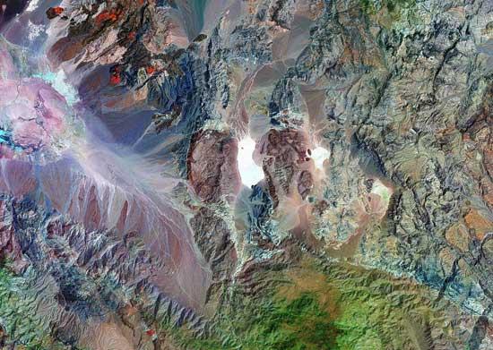 zona de Racetrack Playa vista desde satélite