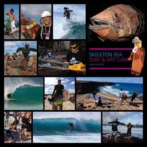 Skeleton sea, collage