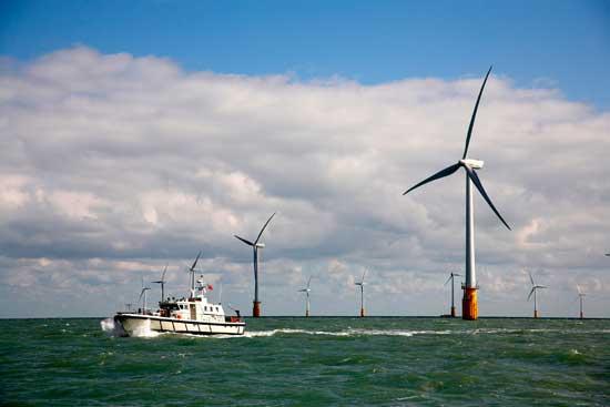 parque eólico marino Thanet Offshore Wind Farm
