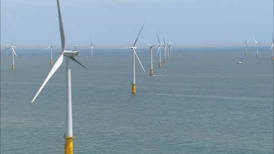 turbinas del parque eólico marino Thanet Offshore Wind Farm