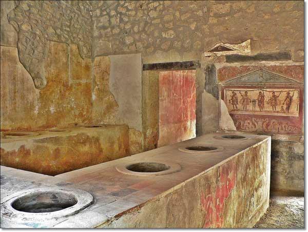 Thermopolium, como una taberna romana, en Pompeya