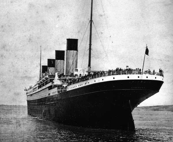 El Titanic visto desde la popa