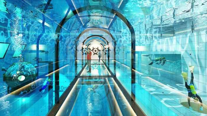 túnel submarino de la piscina Deepest, Polonia