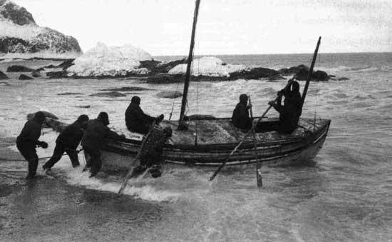 vieje en bote de Shackleton