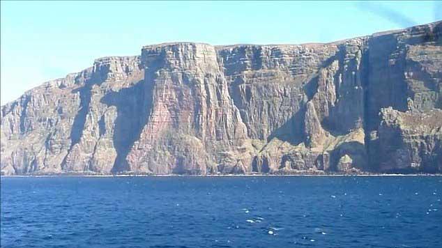 acantilado de St John's Head en las islas Hébridas