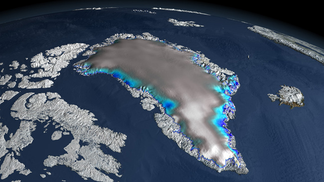 altimetría de los glaciares de Groenlandia