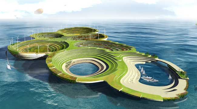 El Arca de Noé, ciudad flotante autosostenible